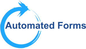Automated forms graphic with large O in circle