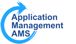 Application Management AMS with large O arrow in circle